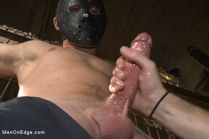 Photo number 5 from Is it a serial killer or a hot stud for edging on Halloween night? shot for Men On Edge on Kink.com. Featuring Zane Anders in hardcore BDSM & Fetish porn.