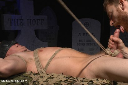 Photo number 10 from Is it a serial killer or a hot stud for edging on Halloween night? shot for Men On Edge on Kink.com. Featuring Zane Anders in hardcore BDSM & Fetish porn.
