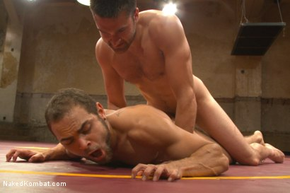 """Photo number 14 from Abel """"Armbar"""" Archer VS Brock """"The Big Show"""" Avery shot for nakedkombat on Kink.com. Featuring Abel Archer and Brock Avery in hardcore BDSM & Fetish porn."""