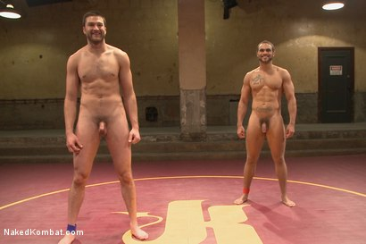 """Photo number 15 from Abel """"Armbar"""" Archer VS Brock """"The Big Show"""" Avery shot for nakedkombat on Kink.com. Featuring Abel Archer and Brock Avery in hardcore BDSM & Fetish porn."""