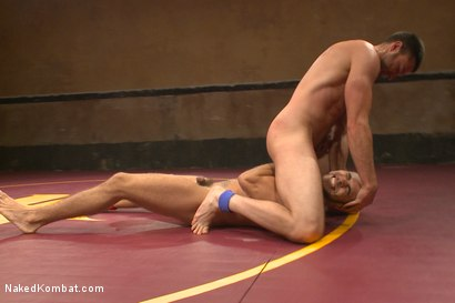 """Photo number 5 from Abel """"Armbar"""" Archer VS Brock """"The Big Show"""" Avery shot for nakedkombat on Kink.com. Featuring Abel Archer and Brock Avery in hardcore BDSM & Fetish porn."""