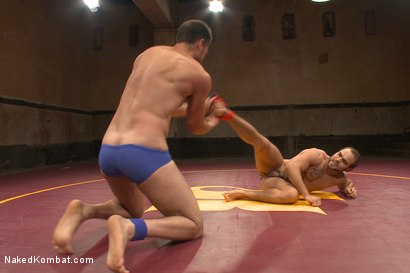 """Photo number 1 from Abel """"Armbar"""" Archer VS Brock """"The Big Show"""" Avery shot for nakedkombat on Kink.com. Featuring Abel Archer and Brock Avery in hardcore BDSM & Fetish porn."""