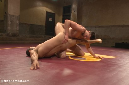 """Photo number 8 from Abel """"Armbar"""" Archer VS Brock """"The Big Show"""" Avery shot for Naked Kombat on Kink.com. Featuring Abel Archer and Brock Avery in hardcore BDSM & Fetish porn."""