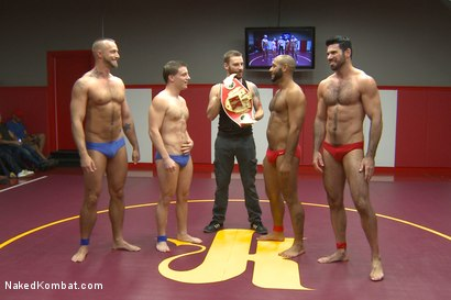 Photo number 1 from Summer Smackdown Live Finale shot for Naked Kombat on Kink.com. Featuring Jessie Colter, Billy Santoro, Doug Acre and Leo Forte in hardcore BDSM & Fetish porn.