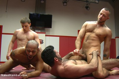 Photo number 12 from Summer Smackdown Live Finale shot for Naked Kombat on Kink.com. Featuring Jessie Colter, Billy Santoro, Doug Acre and Leo Forte in hardcore BDSM & Fetish porn.