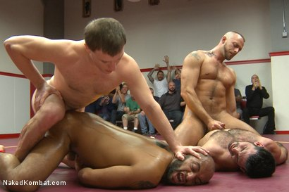 Photo number 14 from Summer Smackdown Live Finale shot for Naked Kombat on Kink.com. Featuring Jessie Colter, Billy Santoro, Doug Acre and Leo Forte in hardcore BDSM & Fetish porn.