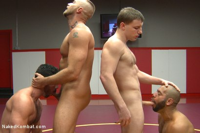 Photo number 9 from Summer Smackdown Live Finale shot for Naked Kombat on Kink.com. Featuring Jessie Colter, Billy Santoro, Doug Acre and Leo Forte in hardcore BDSM & Fetish porn.