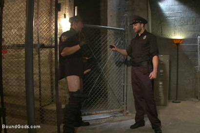 Photo number 2 from Good Cop - Bad Cop shot for Bound Gods on Kink.com. Featuring Connor Maguire and Abel Archer in hardcore BDSM & Fetish porn.