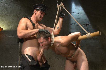 Photo number 11 from Good Cop - Bad Cop shot for Bound Gods on Kink.com. Featuring Connor Maguire and Abel Archer in hardcore BDSM & Fetish porn.