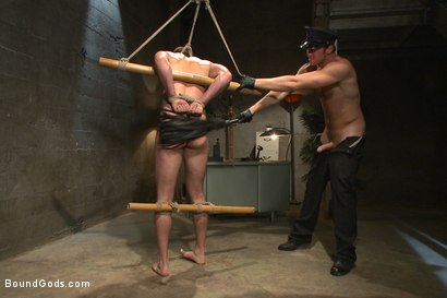 Photo number 9 from Good Cop - Bad Cop shot for Bound Gods on Kink.com. Featuring Connor Maguire and Abel Archer in hardcore BDSM & Fetish porn.