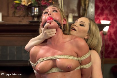 Photo number 2 from Lesbian Sex Slaves shot for Whipped Ass on Kink.com. Featuring Aiden Starr, Carter Cruise and Madelyn Monroe in hardcore BDSM & Fetish porn.