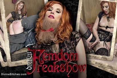 Photo number 10 from Divine Bitches Halloween Special: FemDom Freakshow! SPH cock edging! shot for Divine Bitches on Kink.com. Featuring Maitresse Madeline Marlowe  and Jimmy Bullet in hardcore BDSM & Fetish porn.