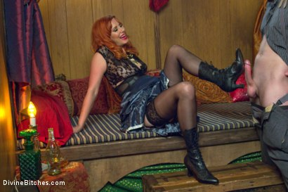 Photo number 4 from Divine Bitches Halloween Special: FemDom Freakshow! SPH cock edging! shot for Divine Bitches on Kink.com. Featuring Maitresse Madeline Marlowe  and Jimmy Bullet in hardcore BDSM & Fetish porn.