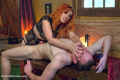 Photo number 5 from Divine Bitches Halloween Special: FemDom Freakshow! SPH cock edging! shot for Divine Bitches on Kink.com. Featuring Maitresse Madeline Marlowe  and Jimmy Bullet in hardcore BDSM & Fetish porn.
