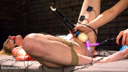 Photo number 21 from Ela and the Electricity: A Reunion shot for Electro Sluts on Kink.com. Featuring Lorelei Lee and Ela Darling in hardcore BDSM & Fetish porn.