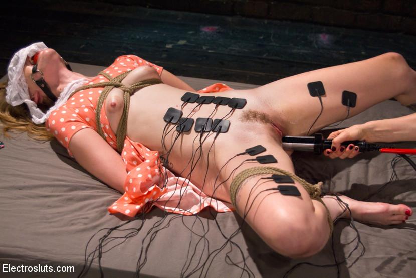 Electric orgasm forced bondage would