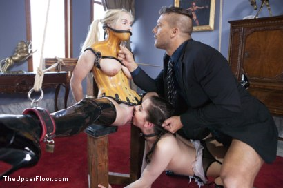 Photo number 6 from The Sex Toy and the New Maid shot for The Upper Floor on Kink.com. Featuring Ramon Nomar, Christie Stevens and Kasey Warner in hardcore BDSM & Fetish porn.