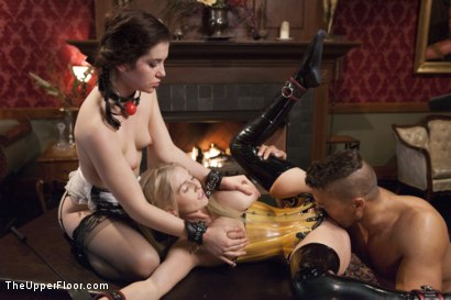 Photo number 9 from The Sex Toy and the New Maid shot for The Upper Floor on Kink.com. Featuring Ramon Nomar, Christie Stevens and Kasey Warner in hardcore BDSM & Fetish porn.