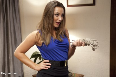 Photo number 2 from Grow a Pair shot for Hogtied on Kink.com. Featuring Dani Daniels in hardcore BDSM & Fetish porn.