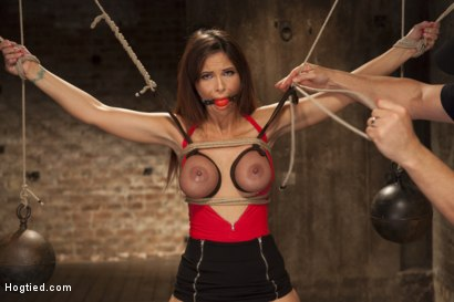 Photo number 2 from Big Tit MILF Syren de Mer Gets It Just the Way She Likes It shot for Hogtied on Kink.com. Featuring Syren de Mer in hardcore BDSM & Fetish porn.