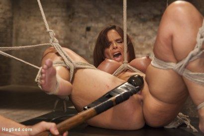 Photo number 8 from Big Tit MILF Syren de Mer Gets It Just the Way She Likes It shot for Hogtied on Kink.com. Featuring Syren de Mer in hardcore BDSM & Fetish porn.