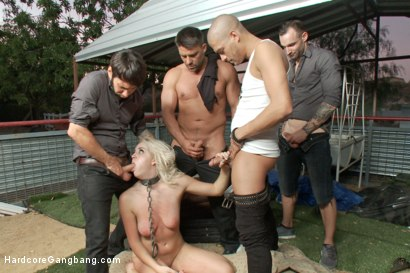 Photo number 5 from Young Blonde blogger's Gang-bang Tell All! shot for Hardcore Gangbang on Kink.com. Featuring Marilyn Moore, John Strong, Tommy Pistol, Alex Legend, Toni Ribas and Xander Corvus in hardcore BDSM & Fetish porn.