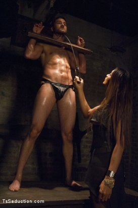Photo number 2 from She's the Owner of all men - Yasmin Lee. shot for TS Seduction on Kink.com. Featuring Yasmin Lee and Abel Archer in hardcore BDSM & Fetish porn.
