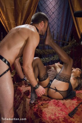 Photo number 4 from She's the Owner of all men - Yasmin Lee. shot for TS Seduction on Kink.com. Featuring Yasmin Lee and Abel Archer in hardcore BDSM & Fetish porn.