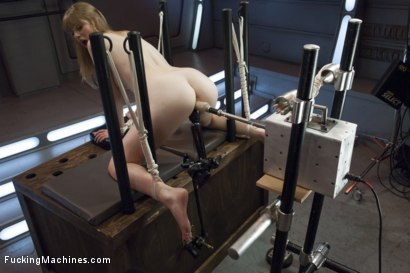 Photo number 10 from Her 1st Kink Shoot - Local girl, tied up& machine fucked, MANY Orgasms shot for Fucking Machines on Kink.com. Featuring Dolly Leigh in hardcore BDSM & Fetish porn.