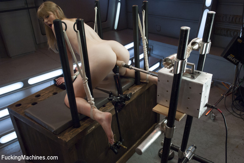 Tied Up And Getting Fuck By Machine