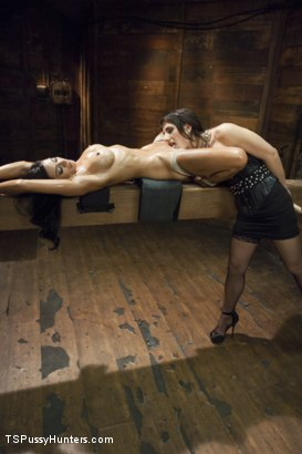 Photo number 2 from Bound and Horny - Brenda Von Tease Dominates Beretta James  shot for TS Pussy Hunters on Kink.com. Featuring Brenda Von Tease and Beretta James in hardcore BDSM & Fetish porn.