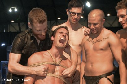 Photo number 2 from BIP crew infiltrates Bond-Con & makes straight stud take tons of cock! shot for Bound in Public on Kink.com. Featuring Christian Wilde, Cameron Kincade and Alexander Gustavo in hardcore BDSM & Fetish porn.