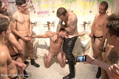 Photo number 12 from BIP crew infiltrates Bond-Con & makes straight stud take tons of cock! shot for Bound in Public on Kink.com. Featuring Christian Wilde, Cameron Kincade and Alexander Gustavo in hardcore BDSM & Fetish porn.