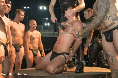 Photo number 3 from BIP crew infiltrates Bond-Con & makes straight stud take tons of cock! shot for Bound in Public on Kink.com. Featuring Christian Wilde, Cameron Kincade and Alexander Gustavo in hardcore BDSM & Fetish porn.