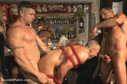 Photo number 8 from Folsom Street Virgin  shot for Bound in Public on Kink.com. Featuring Trenton Ducati, Nick Capra and Jacob Durham in hardcore BDSM & Fetish porn.