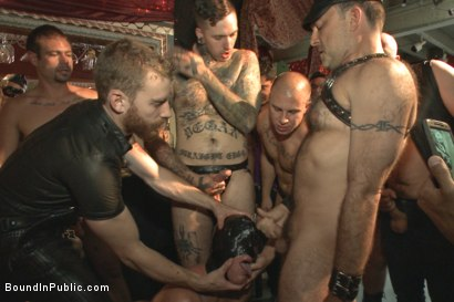 Photo number 14 from Folsom Street Virgin  shot for Bound in Public on Kink.com. Featuring Trenton Ducati, Nick Capra and Jacob Durham in hardcore BDSM & Fetish porn.