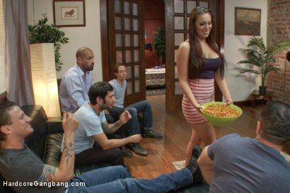 Photo number 3 from GAME OVER: Horny Wife Seduces husbands' friends!! shot for Hardcore Gangbang on Kink.com. Featuring Tori Avano, John Strong, Owen Gray, Tommy Pistol, Mr. Pete and Karlo Karrera in hardcore BDSM & Fetish porn.