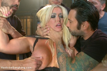 Photo number 3 from Desperate wife gets her gangbang fantasy fulfilled shot for Hardcore Gangbang on Kink.com. Featuring John Strong, Owen Gray, Tommy Pistol, Mr. Pete, Karlo Karrera and Alura Jenson in hardcore BDSM & Fetish porn.