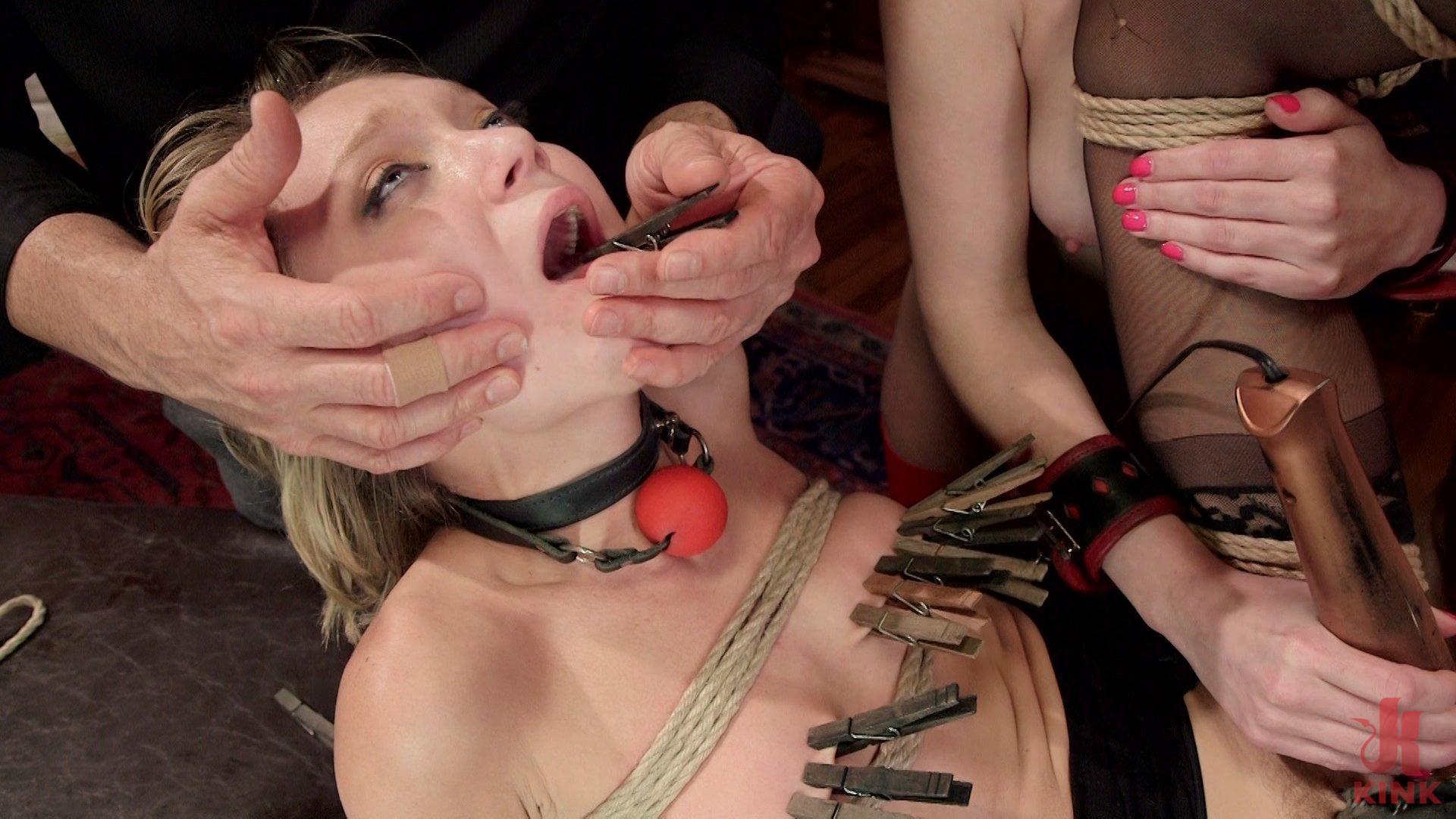 Photo number 1 from The Reluctant Slave shot for The Upper Floor on Kink.com. Featuring Veruca James, Dakota Skye and John Strong in hardcore BDSM & Fetish porn.