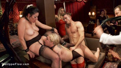 Photo number 14 from Two Gorgeous Slaves Fight For Cock shot for The Upper Floor on Kink.com. Featuring Sovereign Syre, Dahlia Sky and Bill Bailey in hardcore BDSM & Fetish porn.
