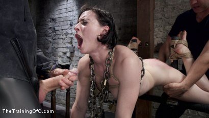 Photo number 7 from Tifereth's First Porn Shoot, Day One shot for The Training Of O on Kink.com. Featuring Owen Gray and Tifereth in hardcore BDSM & Fetish porn.