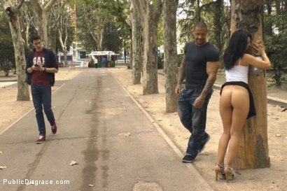 Photo number 1 from Welcome to Madrid! Public walk of shame. shot for Public Disgrace on Kink.com. Featuring Pamela Sanchez and Rob Diesel in hardcore BDSM & Fetish porn.