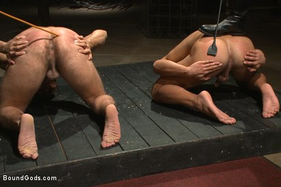 Photo number 2 from Christian Wilde abuses and fucks the boys in the Holiday Live Shoot! shot for Bound Gods on Kink.com. Featuring Christian Wilde, Seth Santoro, Brock Avery and Van Darkholme in hardcore BDSM & Fetish porn.