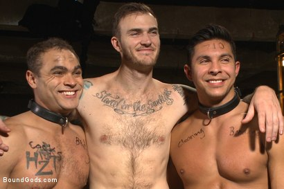Photo number 15 from Christian Wilde abuses and fucks the boys in the Holiday Live Shoot! shot for Bound Gods on Kink.com. Featuring Christian Wilde, Seth Santoro, Brock Avery and Van Darkholme in hardcore BDSM & Fetish porn.
