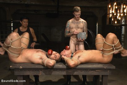 Photo number 14 from Christian Wilde abuses and fucks the boys in the Holiday Live Shoot! shot for Bound Gods on Kink.com. Featuring Christian Wilde, Seth Santoro, Brock Avery and Van Darkholme in hardcore BDSM & Fetish porn.