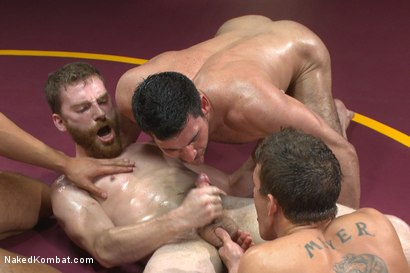 Photo number 14 from Four hot studs fight for the right to fuck in front of a live crowd! shot for Naked Kombat on Kink.com. Featuring Seth Santoro, Sebastian Keys, Alexander Gustavo and Billy Santoro in hardcore BDSM & Fetish porn.