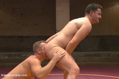 "Photo number 9 from Top Cock: Fight for the title of ""Team Captain"" shot for Naked Kombat on Kink.com. Featuring Rylan Knox and Brendan Patrick in hardcore BDSM & Fetish porn."