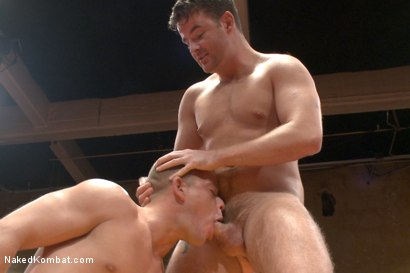 "Photo number 7 from Top Cock: Fight for the title of ""Team Captain"" shot for Naked Kombat on Kink.com. Featuring Rylan Knox and Brendan Patrick in hardcore BDSM & Fetish porn."