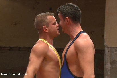 "Photo number 2 from Top Cock: Fight for the title of ""Team Captain"" shot for Naked Kombat on Kink.com. Featuring Rylan Knox and Brendan Patrick in hardcore BDSM & Fetish porn."