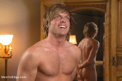 Photo number 15 from Blond surfer dude gets edged in bondage for the first time shot for Men On Edge on Kink.com. Featuring Morgan Shades in hardcore BDSM & Fetish porn.